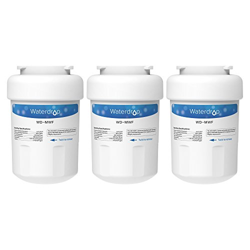 3 Pack Waterdrop MWF Replacement for GE MWF SmartWater, MWFA, MWFP, GWF, GWFA, Kenmore 9991,46-9991, 469991 Refrigerator Water Filter (Ge Mwf Water Filter 3 Pack)