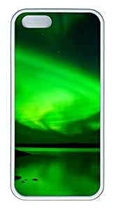 iPhone 5s Cases & Covers - Antarctic Green Custom TPU Soft Case Cover Protector for iPhone 5s - White