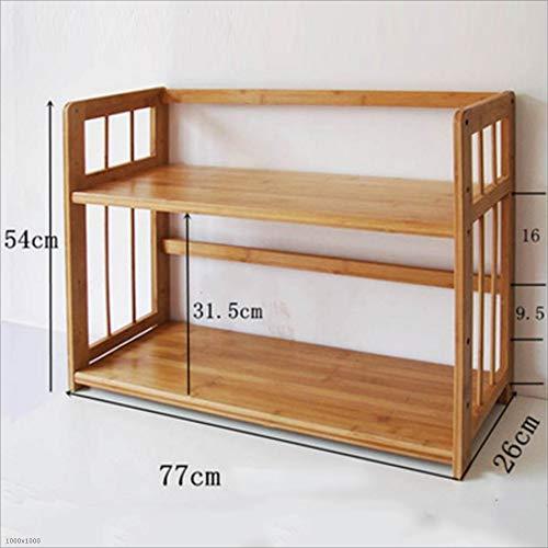 Bookshelf Xiaomei, Bamboo Table Creative Small Storage Finishing Storage Rack Multi-Size Optional (Size : 5477cm)