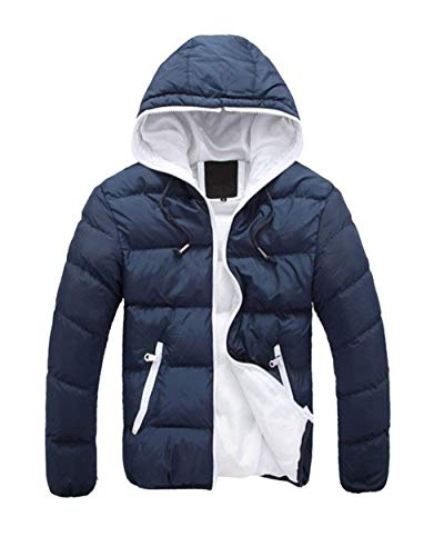 Adelina Men's Winter Jacket Quilted Jacket Warm Down Parka Hooded Jacket Chaude Down Jacket Outerwear Coat Als Bild4