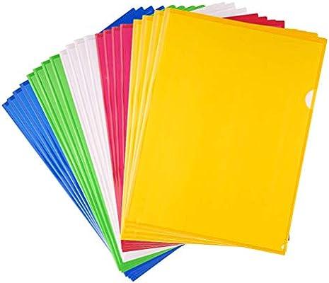 Carpetas de Plástico A4,Cubierta de Protección de Archivo A4 20 ...