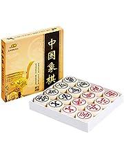 ABOOFAN 3D Chinese Schaken Hars High-end Chess Educatief Speelgoed Early Learning Game Beige (30)