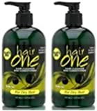 Hair One Cleanser and Conditioner with Olive Oil for Dry Hair 12 oz