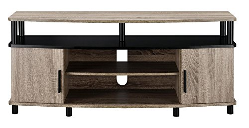Stand Tv Contemporary Wood Finish (Ameriwood Home Carson TV Stand for 50-Inch TVs (Sonoma Oak))