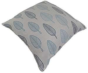 Hoja hojas de verano azul turquesa homespace Tejido cojín 55,88 cm - 55 cm