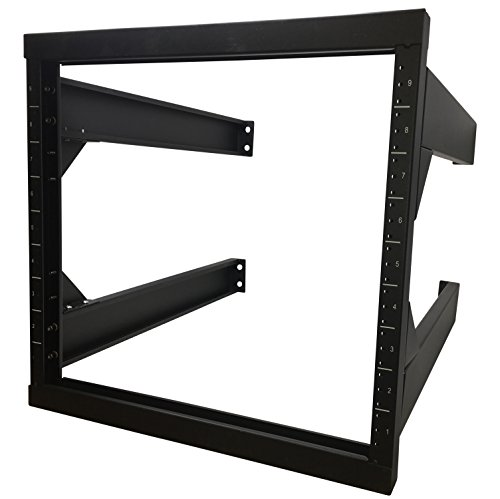 Kenuco 9U Wall Mount Open Frame Steel Network Equipment Rack New Version by Kenuco