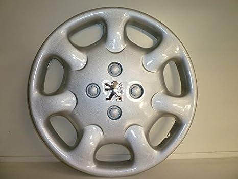 Juego de Tapacubos 4 Tapacubos Diseño Peugeot Partner 1998/15 r 2008 () Logo Cromado: Amazon.es: Coche y moto