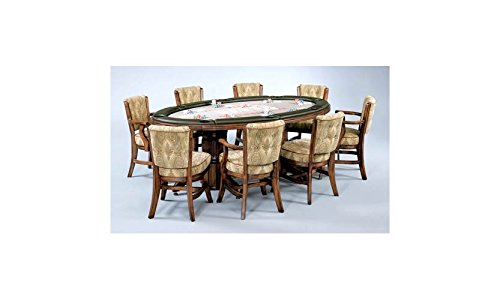 Texas-Holdem-Table-w-Padded-Rail-in-Maple-w-Double-Pedestal-Base