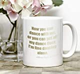 Scandal TV Show. Now you can dance with me. Olivia Pope quote mugs TV gifts for women. Scandal fan gifts with faux gold foil effect mugs