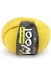 Mc Wool Merino MIx 100 120 schwarz 50 g Fb Lana Grossa Wolle Kreativ