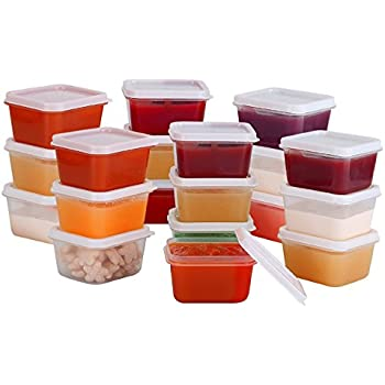 Lovely Greenco Mini Food Storage Containers, Condiment, And Sauce Containers, Baby Food  Storage And
