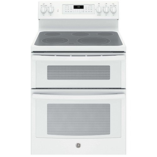 GE JB860DJWW 30″ White Electric Smoothtop Double Oven Range – Convection