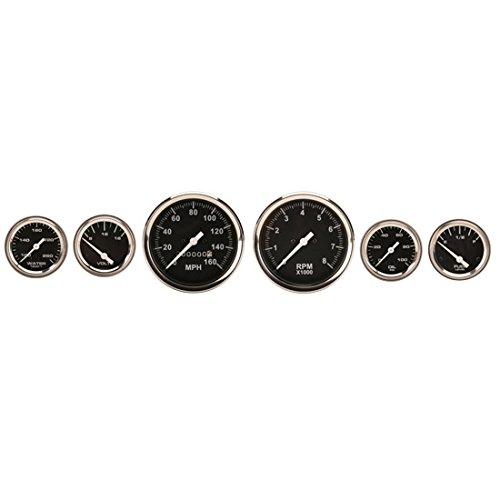 (6-Gauge Set, Black Face, 3-3/8, Mechanical)