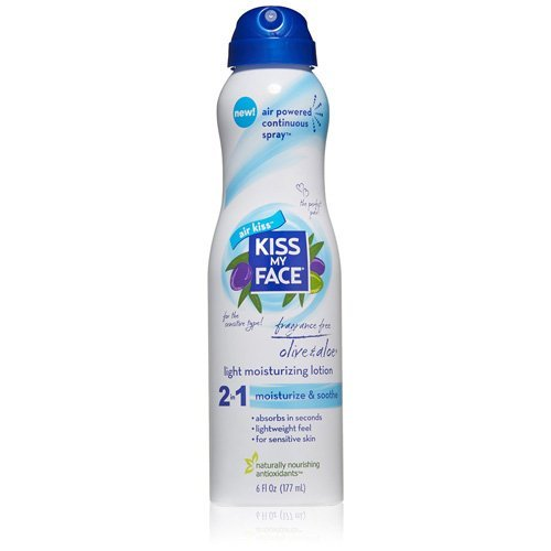 Kiss My Face 2 in 1 Light Moisturizing Lotion, Fragrance Fre