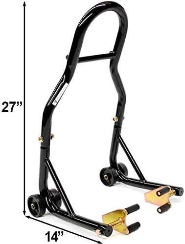Venom Motorcycle Front+Rear Paddle Wheel Lift Stand For Suzuki GSXR GSX-R Gixxer 600