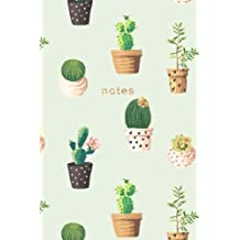 Cactus Notebook: 175-page Cactus Design Notebook: 6x9 Alternating Blank and Ruled Cactus Notebook