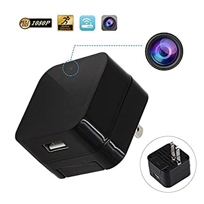 SpyGear-ieleacc - Hidden Camera - HD 1080P - Motion Detection - WiFi Remote View - Usb Charging Phones - Alarm Message -(Support 128GB Micro SD Card) - Home Mini Security – Nanny Cam - Spy Camera - TOP DEGOLLE