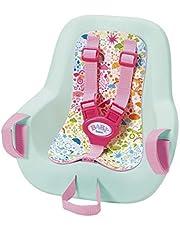 Zapf Creation 827277 Baby born Play & Fun fietsstoel met gordelsysteem, snel en eenvoudig aan te brengen, poppenaccessoires 43 cm, roze/mint