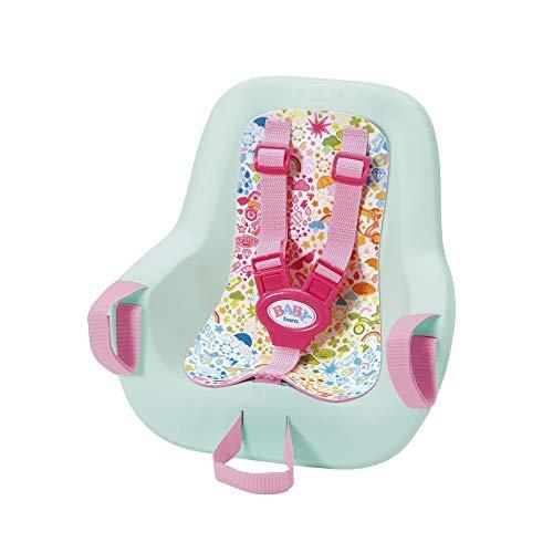 Zapf-827277 Baby Born Play&Fun-Asiento para Bicicleta (43 cm), Color Rosa + Menta (827277)