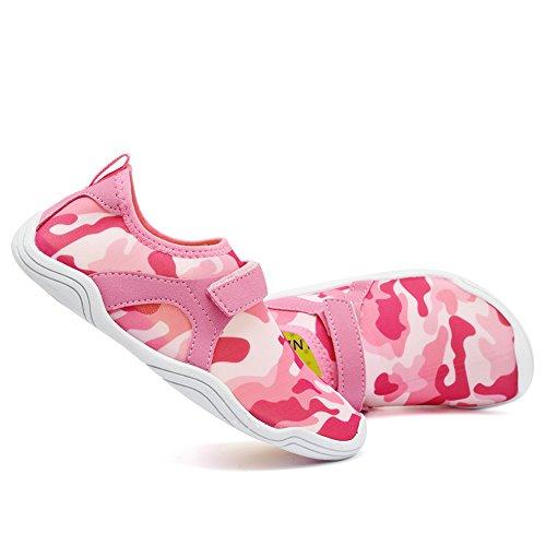Cior Fantiny Ragazzi E Ragazze Scarpe Da Acqua Leggero Comfort Suola Facile Da Camminata Scivolo Atletico Su Aqua Sock (bambino / Bambino / Bambino Grande) M.pink