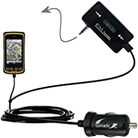 3rd Generation Powerful Audio FM Transmitter with Car Charger suitable for the Trimble Juno 5B 5D - Uses Gomadic TipExchange Technology