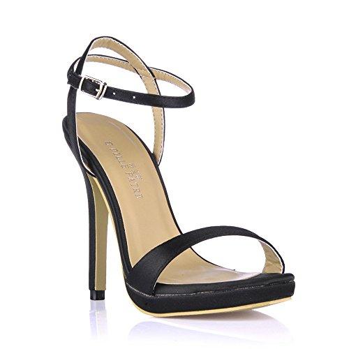 femmes minimaliste de Black Emulation fines Wire d'été avec femme Sandales chaussures hauts talons amende chaussures à banquet nqBwgt8xU