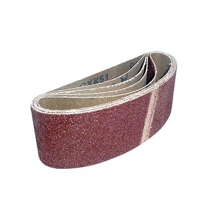 Chiffon Bandes abrasives 60 x 400 mm Lot de 20. 5 de chaque 40, 60, 80 et 120 grains 80et 120grains TKP