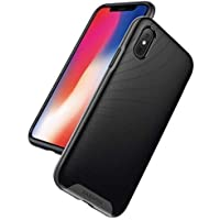 Anker Breeze Soft TPU Shell Military-Grade Certified Case with 3D Texture Protective Case for Apple iPhone X (Gunmetal)