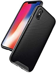 Anker Breeze Case Soft TPU Cover Shell Military-Grade Certified [Support Wireless Charging] [Anti Scratch] with 3D Texture Protective Case for Apple iPhone X