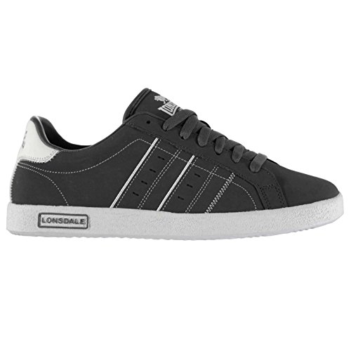Lonsdale Mens Gents Oval Trainers Sport Shoes Sneakers Lace Up Stitched Footwear Grey/White U5tlfAyK2i