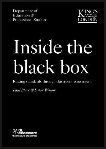 INSIDE THE BLACK BOX: Raising Standards Through Classroom Assessment: 1 by Dylan Wiliam ( 1990 ) Paperback