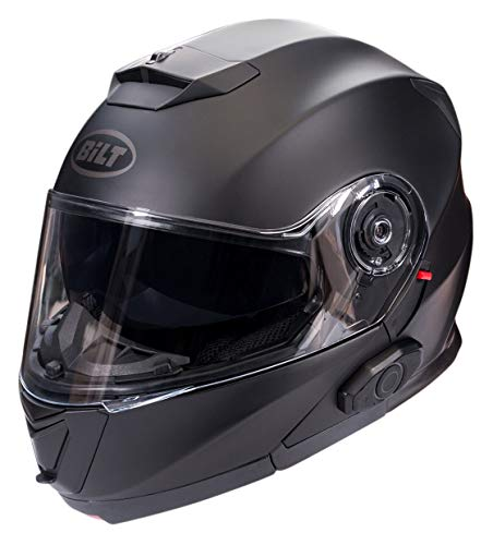 Bilt Techno 2.0 Sena Bluetooth Evolution Modular Helmet - XL - Matte Black