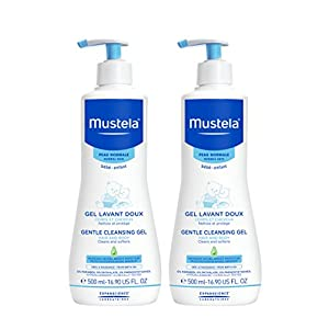 Mustela Gentle Cleansing Gel, Baby Hair & Body Wash, Plant-Based Formula with Natural Avocado Perseose fortified with Vitamin B5.