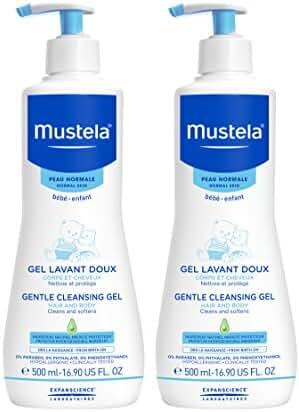 Mustela 2 Piece Gentle Cleansing Body Gel, 16.9 Fl Oz (Pack of 2)