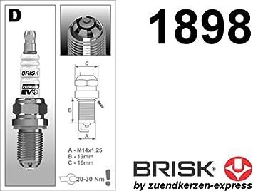 BRISK Premium EVO DR15SXC 1898 Buj/ías de Encendido 4 piezas