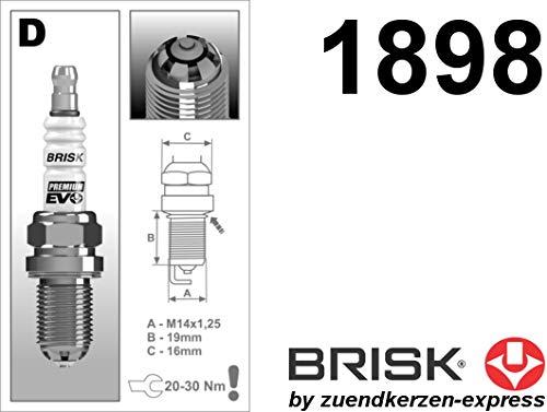 BRISK Premium EVO DR15SXC 1898 Bujías de Encendido, 4 piezas: Amazon.es: Coche y moto