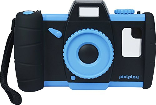 Pixlplay Camera (Blue) - Turn Your Smartphone Into a Fun Kids' Camera