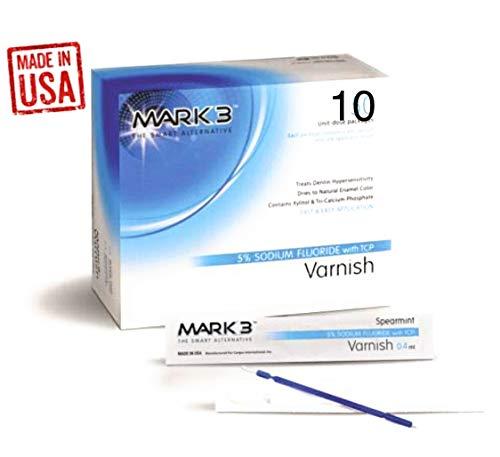 Varnish 5% Sodium Fluoride Unit-Dose Package (2 x 5 Pcs) Bubblegum, Mint or Caramel - Made in USA (Bubblegum)