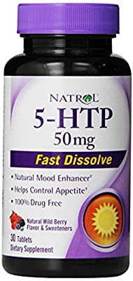 Natrol 5-HTP Fast Dissolve Tablets, 50mg, 30 count