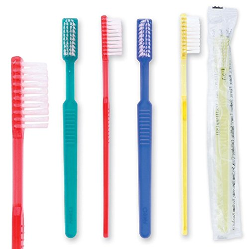 36 Adult Pre-Pasted Disposable Toothbrushes Individually Wrapped, Perfect Cruise Necessity by Bottles N Bags (36 Pack)