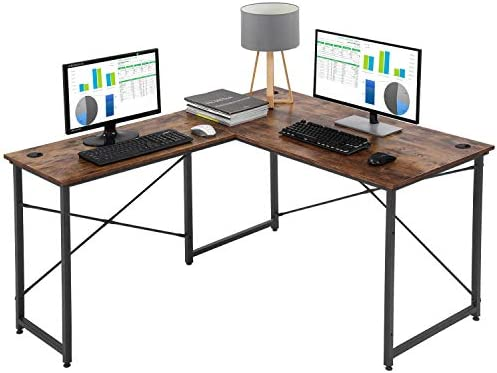 Computer Desk Gaming Desk L Shaped Desk Office Writing Desk Modern Student Girl Kids Study PC Simple Extra Large Ergonomic Table Workstation,Vintage
