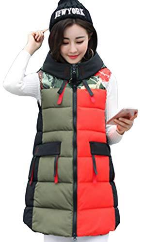 ダム暴徒リンスAlhyla レディース ダウンベスト レディース 秋 冬 ファッション 韓国風 ベスト 中綿ベスト 無地 スリム ロングスベスト