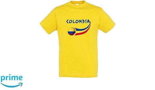 Supportershop - Camiseta Colombia Hombre, Amarillo, FR: 2 XL (Talla Fabricante: XXL): Amazon.es: Deportes y aire libre