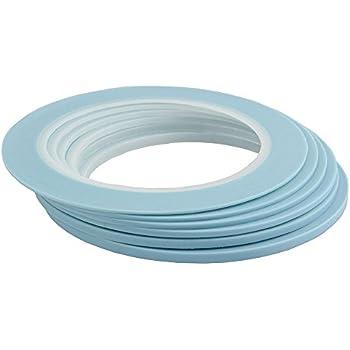 Mix 6Rolls High Temperature Vinyl Fine Line Fineline Masking Tape Automotive Car Auto Paint 1mm 1.5mm 2mm 2.5mm 3mm 4mm