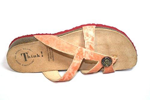 Think Julia 88577, Damen Pantoletten & Zehentrenner Gr. 37 Rot (rosso/kombi69)