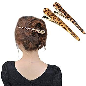 Animal print alligator hair claw clip clamp