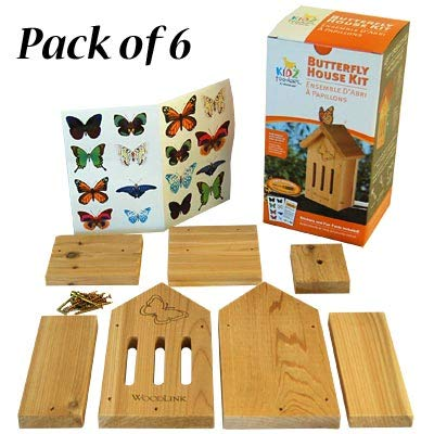 Club Pack of 6 Woodlink Butterfly House DIY Craft Kits by BestNest (Image #2)