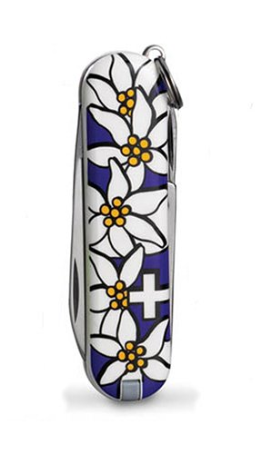 Victorinox Swiss Army Classic Edelweiss Pocket Knife (Violet), Outdoor Stuffs