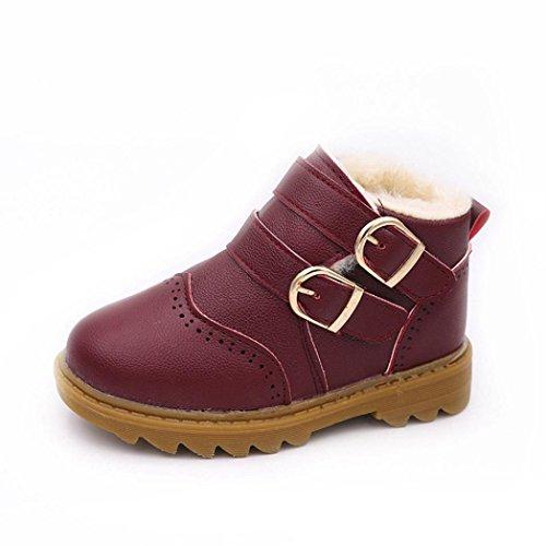 Martin Stiefel Jamicy® Winter-heiße Verkaufs Dicker Leder stiefel Klassische Schuhe Rutschfeste Halten Warme Schneeaufladungen Für Jungen mädchen Wein