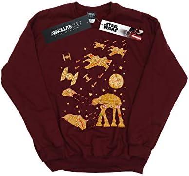 Star Wars Herren Gingerbread Battle Sweatshirt Burgund Small